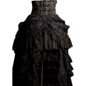 Gothic High Waist Bustle Skirt
