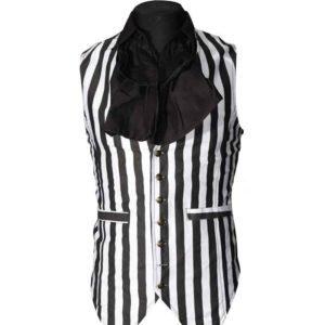 Gothic Striped Long Vest