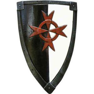 Crusader LARP Shield - Black/White