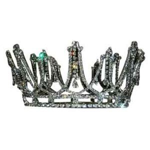 Silver Draped Crystal Crown