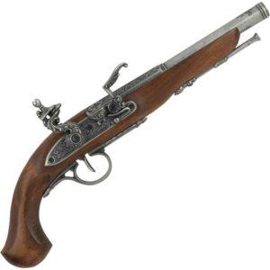 Left-Handed Grey English Flintlock Pistol