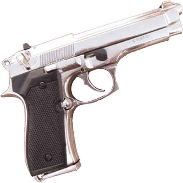 Beretta 92F 9mm Nickel
