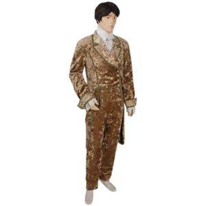 Mens Crushed Velvet Dress Coat