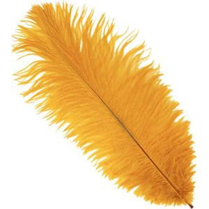 Marigold Ostrich Feather Plume