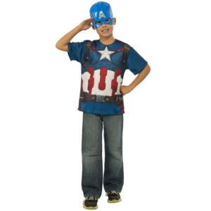 Kids Avengers 2 Captain America Costume Top and Mask Set