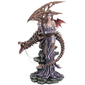Skeletal Dragon Fairy Statue