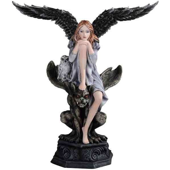 Angel atop Gargoyle Statue