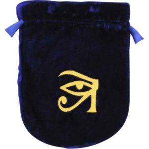 Blue Velvet Eye of Horus Bag
