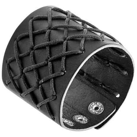 Braided Cord Gothic Wrist Cuff