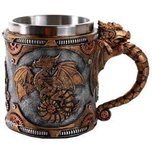 Steampunk Dragon Mug