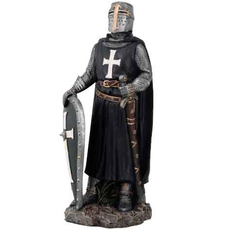 Fearless Crusader Knight Statue