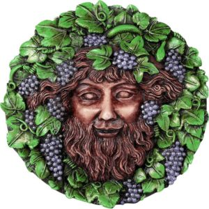 Round Bacchus Wall Plaque