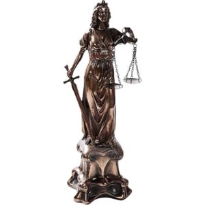Lady Justice on a Pedestal Statue