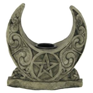Horned Moon Candle Holder
