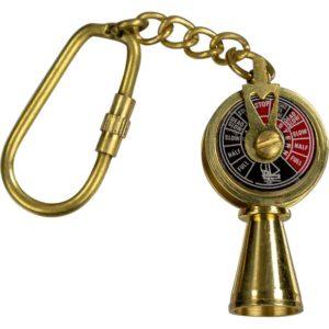 Brass Telegraph Keychain