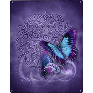 Celtic Butterfly Metal Sign
