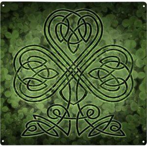 Celtic Shamrock Metal Sign