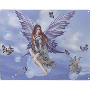Purple Lace Metal Fairy Sign