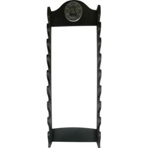 8 Tier Wall Mounted Sword Rack with Plaque
