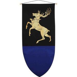 Heraldic Deer Medieval Banner