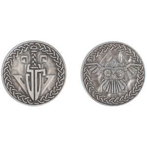 Set of 10 Silver Viking LARP Coins