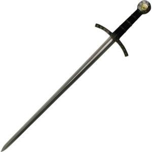 Knights Templar Black Hilt Crusader Sword