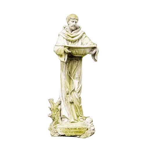 Saint Francis with Bowl Statue