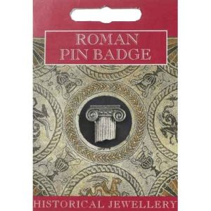 Roman Column Pin Badge