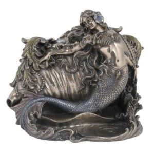 Mermaid and Conch Trinket Box