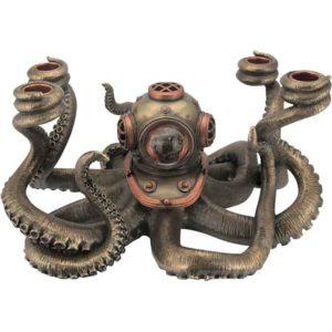 Steampunk Octopus Candelabrum