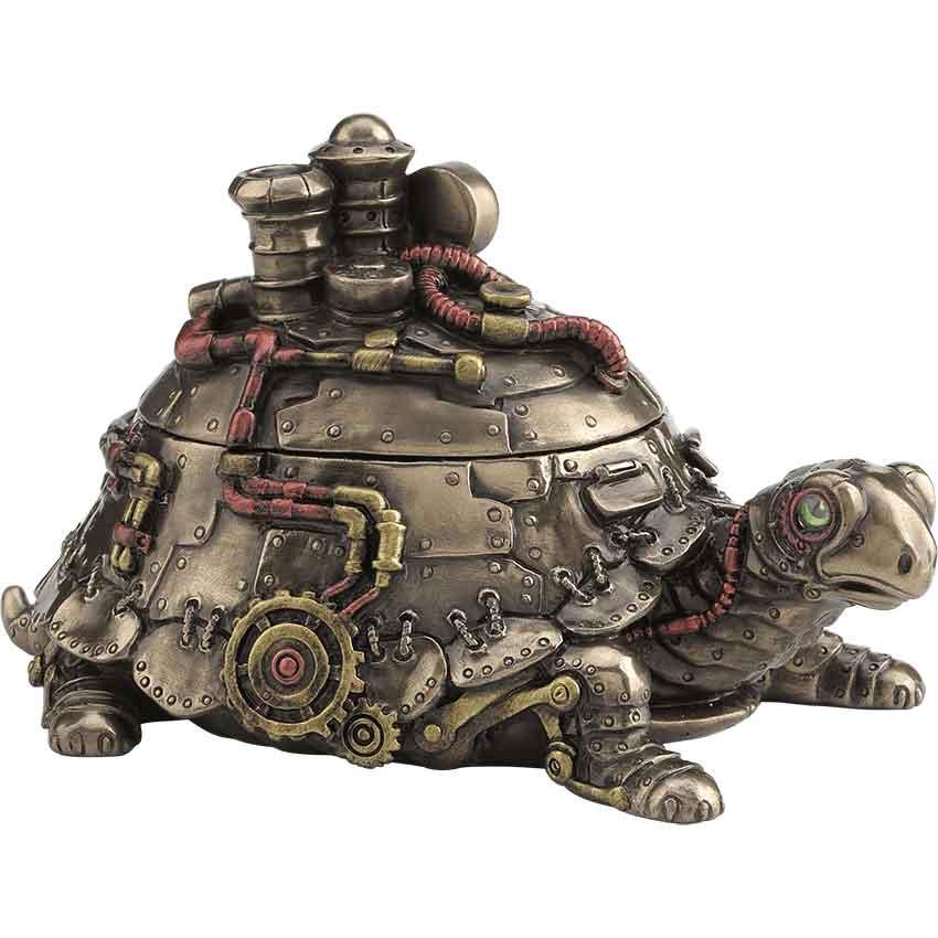 Steampunk Tortoise Trinket Box Wu 1959 Medieval Collectibles