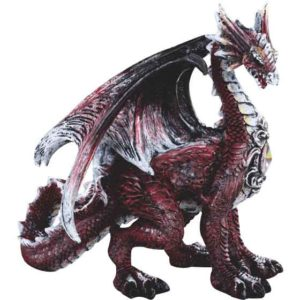 Bejeweled Red Dragon Figurine